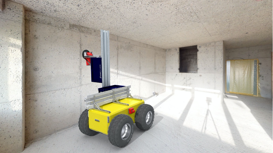 Automated Guided Vehicle (AGV) for the Conditions at Construction Sites